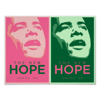 Obama - The New Hope Pink & Green Poster 2