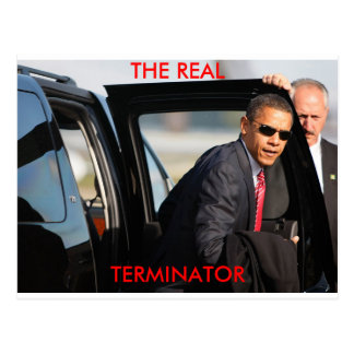 Obama - The Real Terminator Postcard