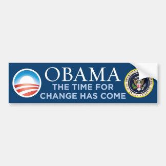 Obama - Time For Change Has Come Bumper Sticker Car Bumper Sticker