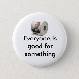 Obama toilet paper 6 cm round badge
