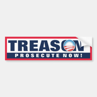 Obama Treason Bumper Sticker