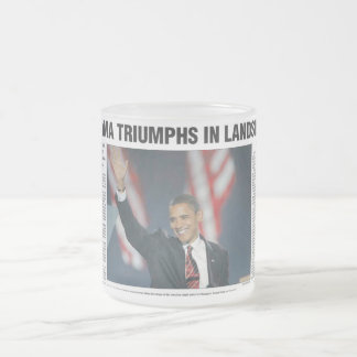 Obama Triumphs in Landslide Mug