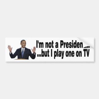 Obama TV President Bumper Sticker