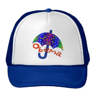 Obama Umbrella Inaguration Memento Mesh Hat