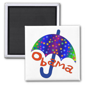 Obama Umbrella Inaguration Memento Square Magnet