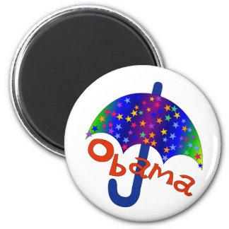 Obama Umbrella Inauguration Memento 6 Cm Round Magnet