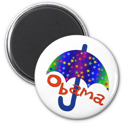 Obama Umbrella Inauguration Memento Fridge Magnets