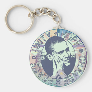 Obama Unity, Hope, Change and Peace 2012 Key Chains