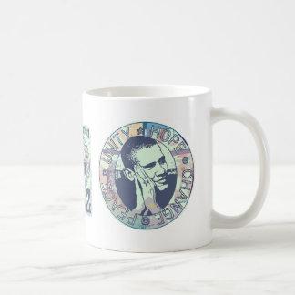 Obama Unity, Hope, Change and Peace 2012 Mug