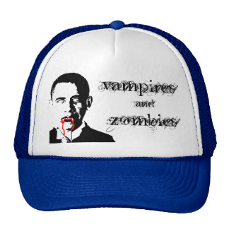 Obama Vampires and Zombies hat