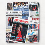 Obama Victory International Headline Collage Mouse Pad