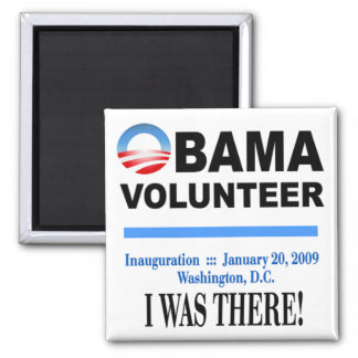 Obama Volunteer Magnet (white)