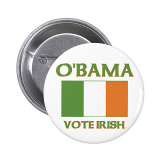 Obama vote Irish button
