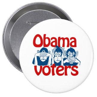 Obama Voters 10 Cm Round Badge