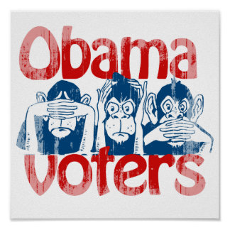 Obama Voters Faded png Posters