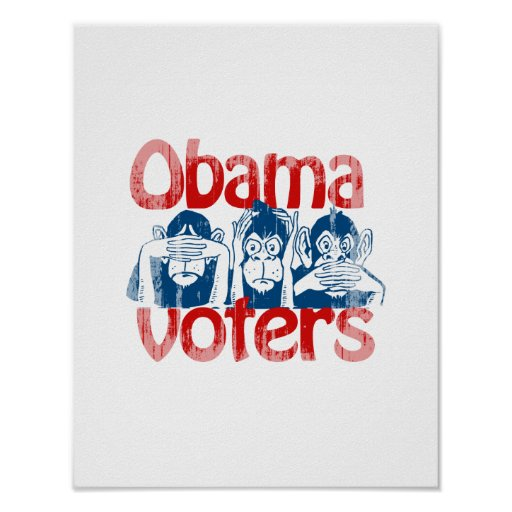 Obama Voters Faded.png Print