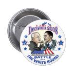Obama vs McCain 2008 6 Cm Round Badge