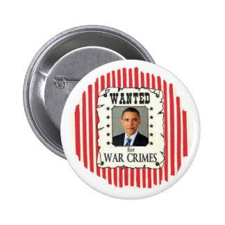 Obama Wanted 6 Cm Round Badge