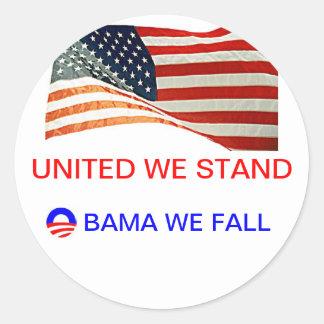obama we fall round sticker