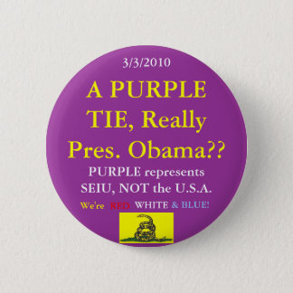 Obama Wears SEIU Purple 6 Cm Round Badge
