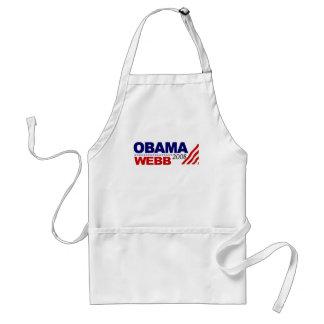 Obama Webb 2008 Adult Apron