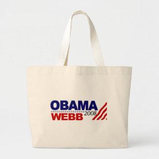 Obama Webb 2008 Jumbo Tote Bag