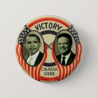 Obama & Webb 6 Cm Round Badge