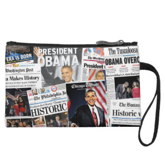 Obama Wins 2008/2012 Newspaper Clutch Bag