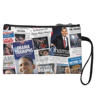Obama Wins 2008/2012 Newspaper Collage Purse Wristlet Purse