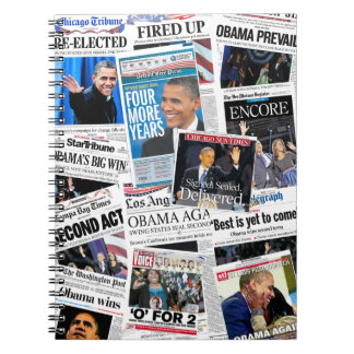 Obama Wins Re-Election 2012 Notebook