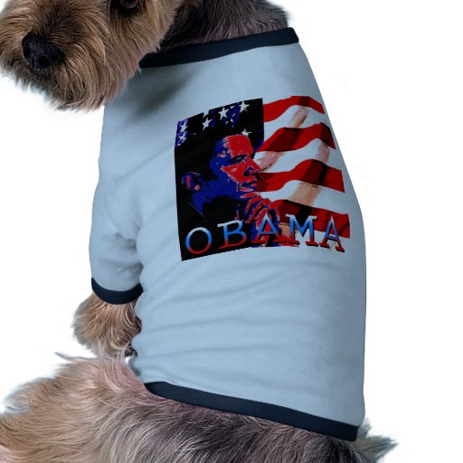 Obama with American Flag Pet Shirt