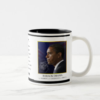 Obama with JFK - Coffee Mug - Customized