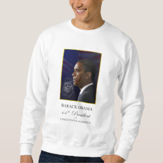 Obama with Kennedy Commemorative Sweatshirt