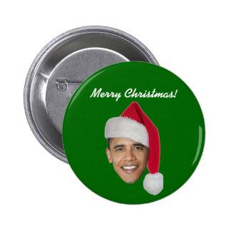Obama Xmas Button (Obama t shirt bumper sticker)
