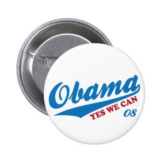 "Obama ""Yes We Can"" Badge Vote for Team Obama Biden"