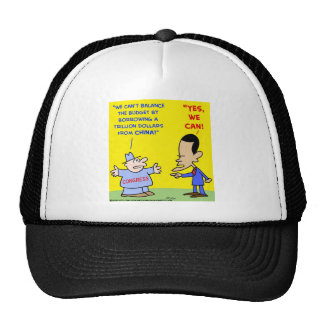 Obama yes we can balance budget hats