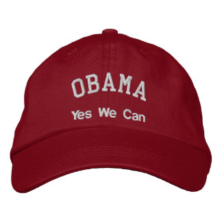 OBAMA, Yes We Can Embroidered Baseball Cap
