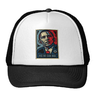 Obama Yes We Can Has Mesh Hat