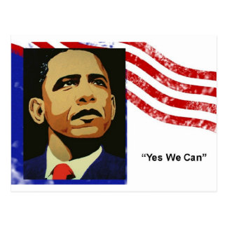 Obama-Yes We Can (postcard) Postcard