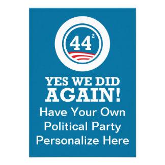 Obama - Yes We Did AGAIN Custom Invite