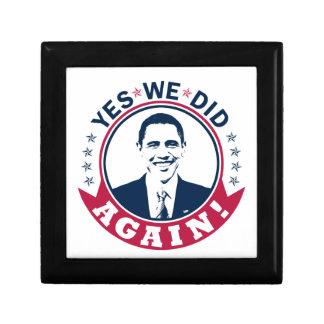 Obama Yes We Did Again V1 Color Trinket Boxes