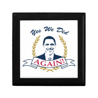 Obama Yes We Did It Again V2 Color Jewelry Box