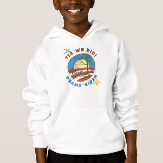 Obama Yes We Did Vintage Kids Hooded Sweatshirt