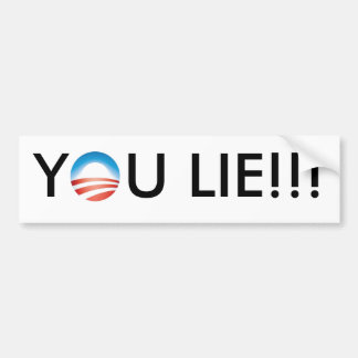 Obama You Lie!!! Bumper Sticker