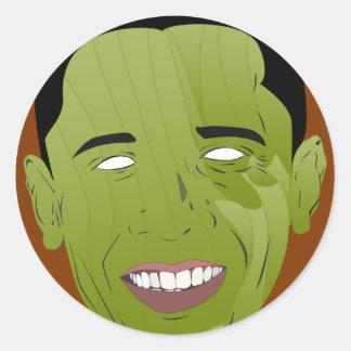 Obama Zombie Round Sticker