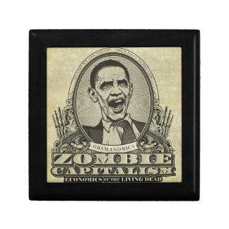 Obama Zombie Small Square Gift Box