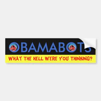 OBAMABOTS CAR BUMPER STICKER