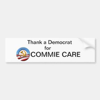 Obamacare Bumper sticker Thank a Democrat