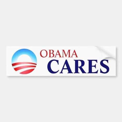 Obamacare Means Obama Cares! Bumper Sticker