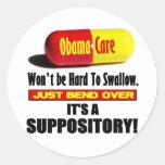 ObamaCare - Suppository Round Sticker